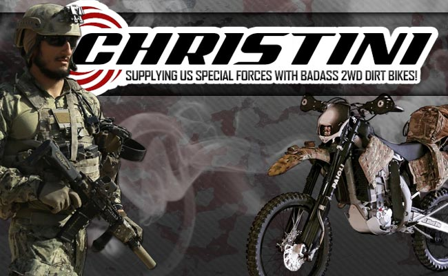 Christini Supplying US Special Forces With Badass 2WD Dirt Bikes