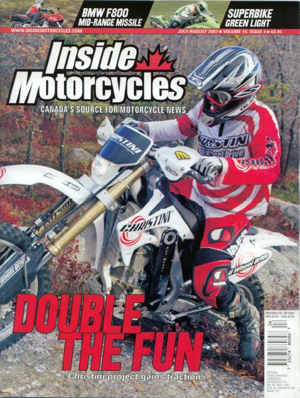 Inside Motorcycles Review of CHRISTINI AWD CRF250X